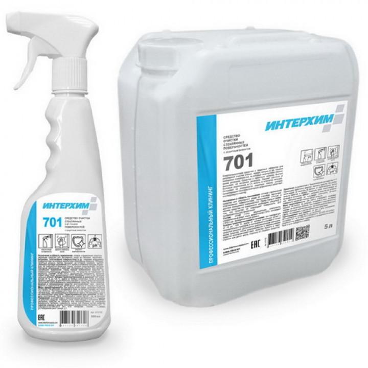 ИНТЕРХИМ 701Средство с защитным эффектом для очистки стеклянных и других гладких поверхностей