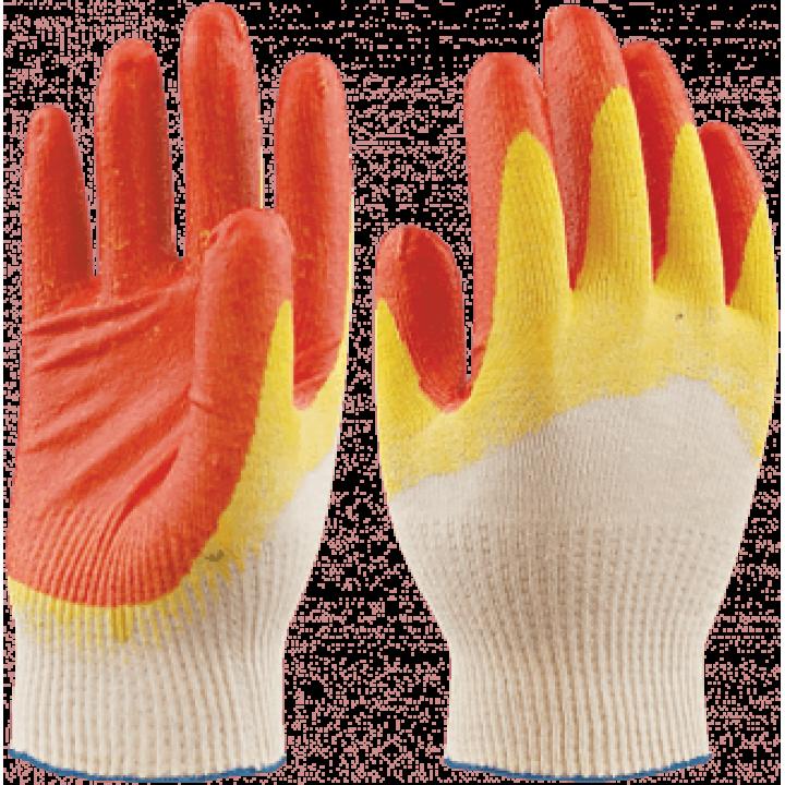 Перчатки х/б с 2-м латексным покрытием
