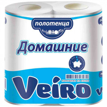 Бумажные полотенца Veiro Домашние 2-х слойные, 2х12,5 м