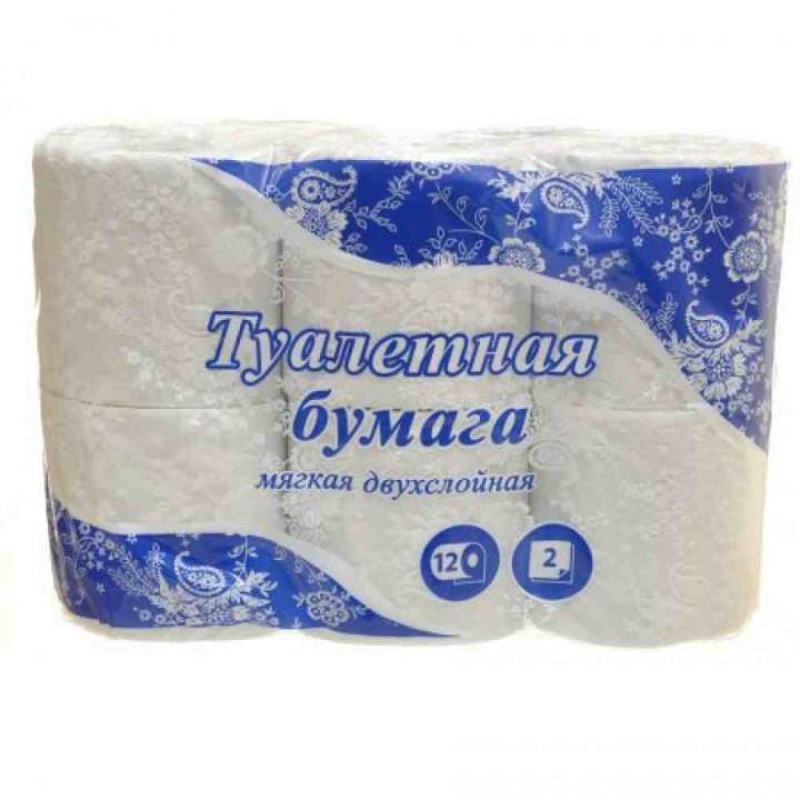Туалетная бумага Noname 2-х слойная, 12х15 м