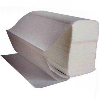 Бумажные полотенца V-сложение 25гр 1-слойные, 200л
