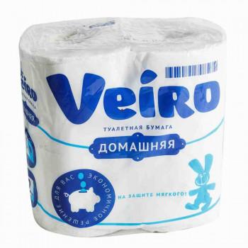 Туалетная бумага Veiro Домашняя 2-х слойная, 4х15м