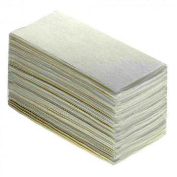 Бумажные полотенца V-сложения 1-слойные, 250 листов 25гр