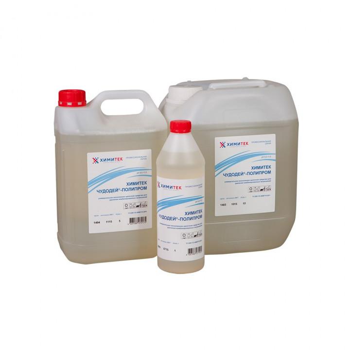Чудодей-Полипром универсальное концентрированное жидкое низкопенное щелочное средство для удаления комбинированных загрязнений