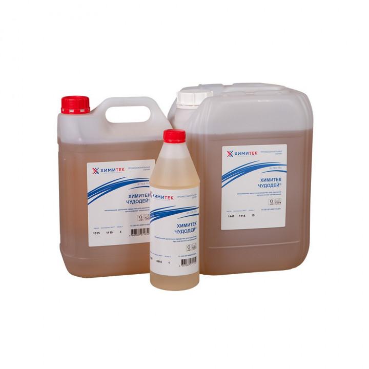 Чудодей-концентрированное жидкое низкопенное щелочное средство для удаления органических загрязнений