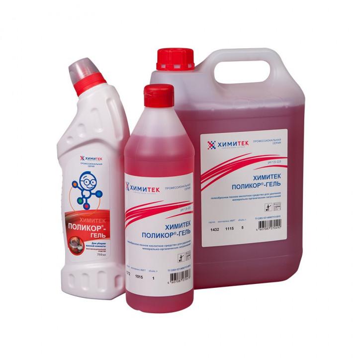 Поликор-гель концентрированное гелеобразное пенное кислотное средство для удаления минерально-органических загрязнений