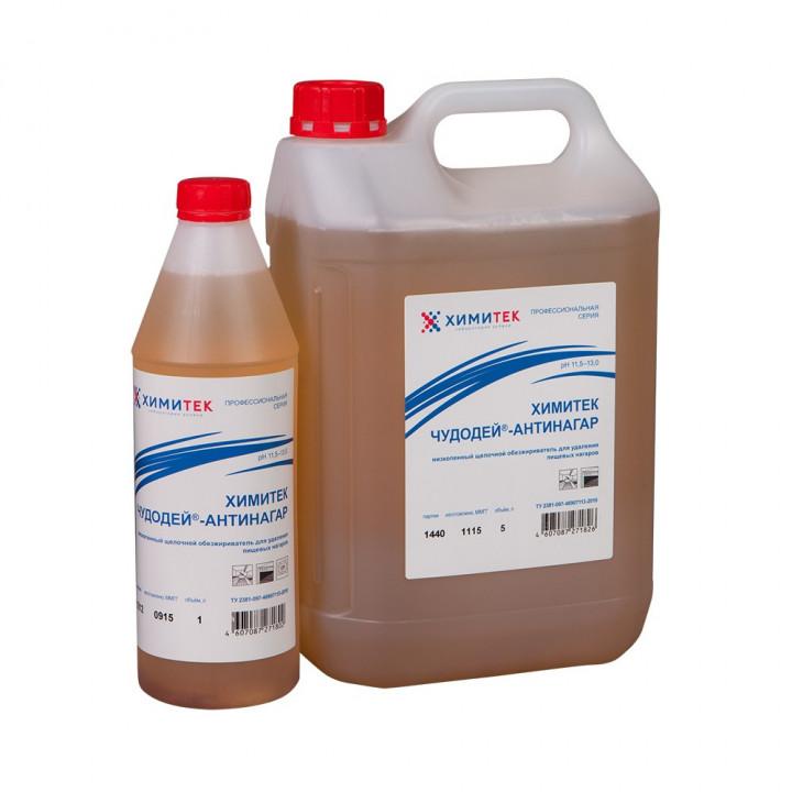 Химитек Чудодей-Антинагар концентрированный жидкий низкопенный щелочной обезжириватель для удаления пищевых нагаров