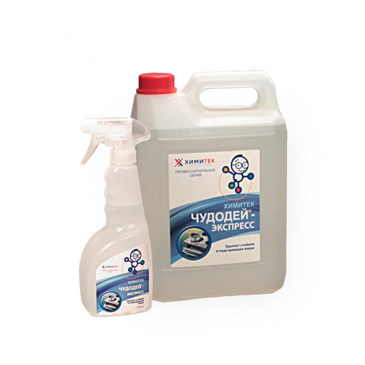 Чудодей-Экспресс жидкое пенное щелочное средство для удаления пищевых загрязнений