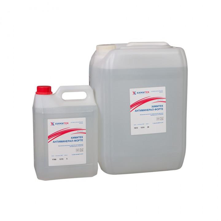 Антиминерал-форте концентрированное жидкое беспенное кислотное средство для удаления минеральных отложений