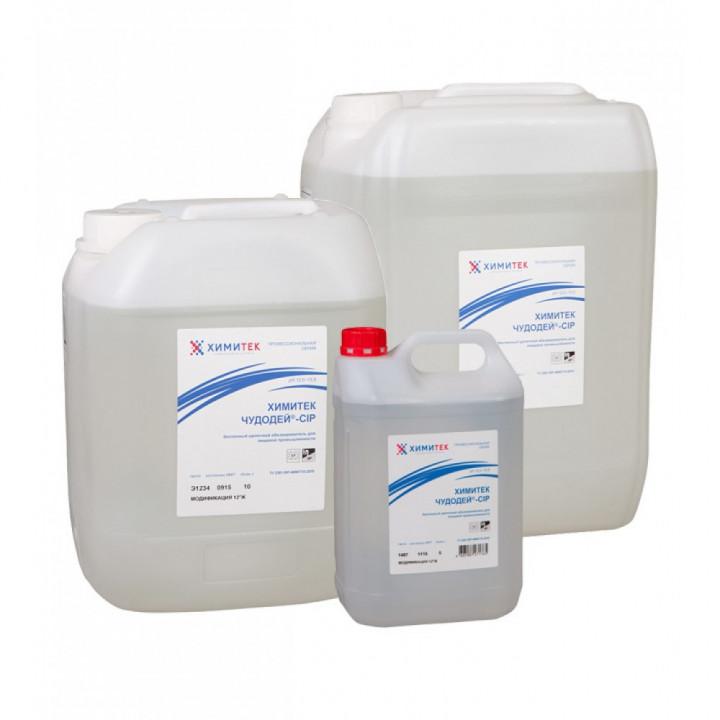 Чудодей-CIP модификация 12°Ж концентрированный жидкий беспенный щелочной обезжириватель для пищевой промышленности