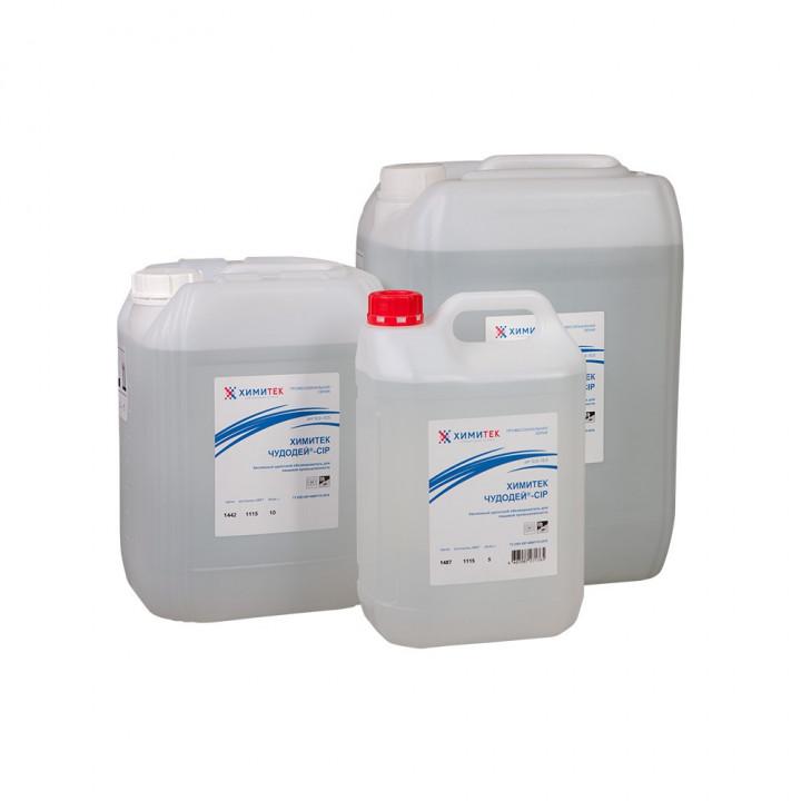 Чудодей-CIP концентрированный жидкий беспенный щелочной обезжириватель для пищевой промышленности