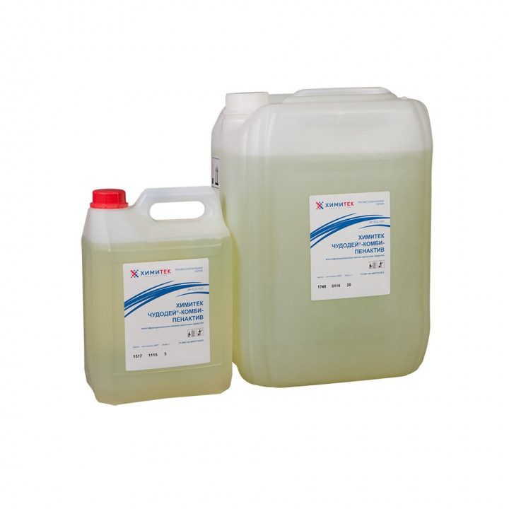 Чудодей-Комби-Пенактив многофункциональное концентрированное жидкое пенное щелочное средство
