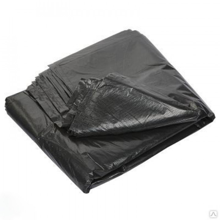 Мешки 120л РОМАШКА 50шт/пач 70*110*40мкн (200шт/тарный мешок) прямое дно  ВП-007