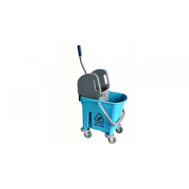 Ведро 23 л на колесах с отжимом Китай (голубое)